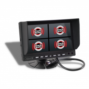 "PS025 - 7"" dashboard quad monitor by Parksafe automotive Ltd"