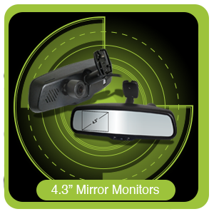 "4.3"" Mirror Monitors"
