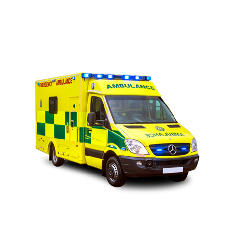 Image of an ambulance - find out what products are available for emergency vehicles.